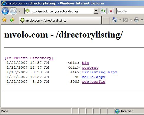 Get Nice Looking Directory Listings For Your IIS Website With